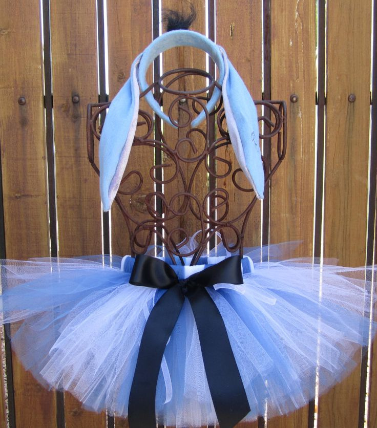Eeyore Inspired Halloween Costume Tutu, Includes Tutu, Ear Headband and Attachable Tail  - Sizes 18, 24 Months, 2t, 3t, 4t, 5t by taddletellshop on Etsy
