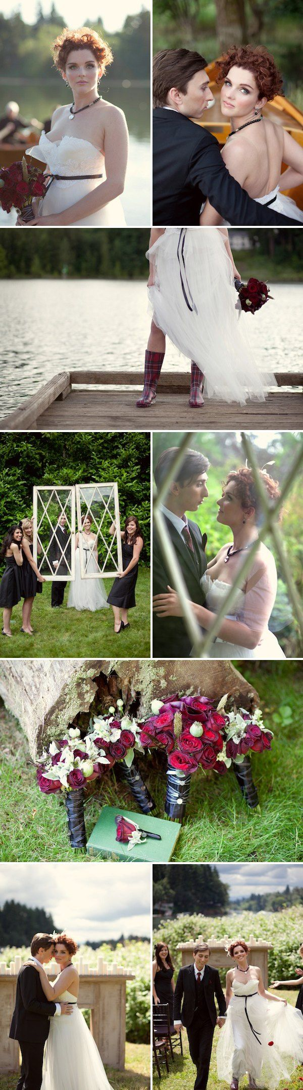 Love the plaid wellies!  Ideas!  BLACK VEIL LOVE   Twilight + Rustic Ralph Lauren Lake House + Elegant Gothic Chic = TO DIE FOR Wedding Inspiration. … Also Bambino. Also, I ...