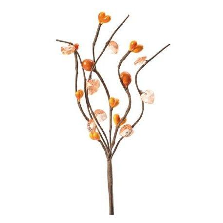 Piquet de fleur zen perle orange