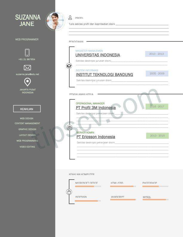 Pin Di Graphic Design Resume