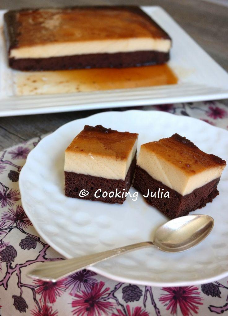 Entre biscoflan  et gâteau magique , le gâteau impossible est... incroyable. Il est composé d'une couche de gâteau au chocolat et d'une couc...