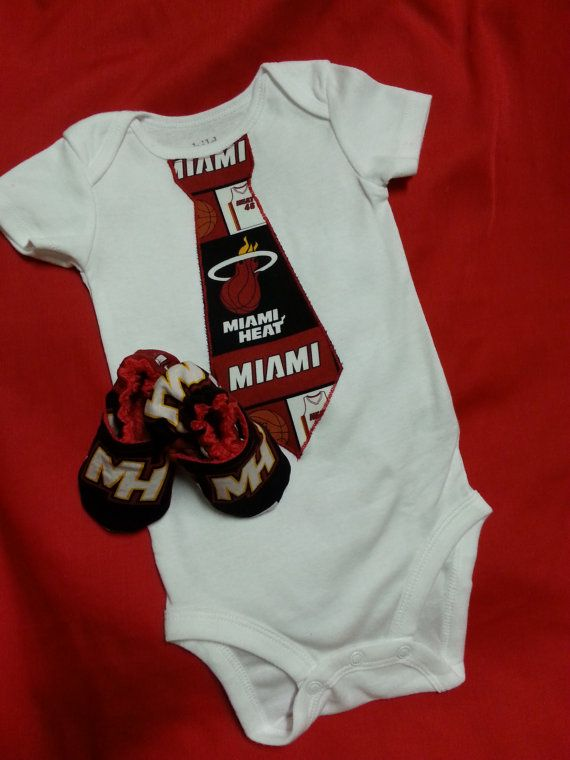 Miami Heat Inspired Onesie And Crib Shoes Set Game Day