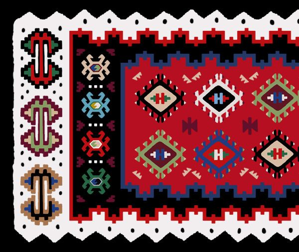 How to Create a Serbian Ethnic Design: Pirot Kilim Pattern