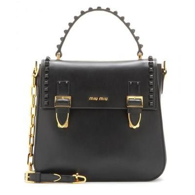 #covetmeMiu Miu - Leather shoulder bag #designerbag #miumiu #women #designer #covetme