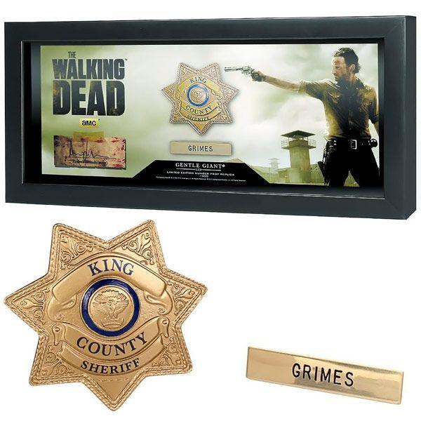 The Walking Dead Sheriff Grimes Replica Badge