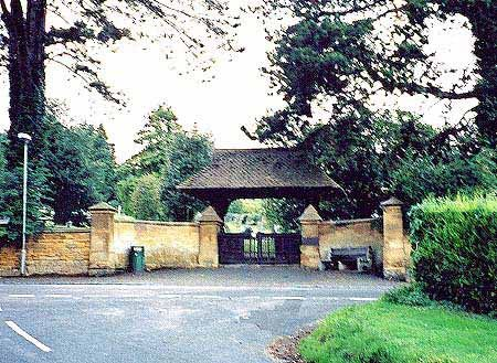 Entrance to the Blockley Cemetery, Station Road.