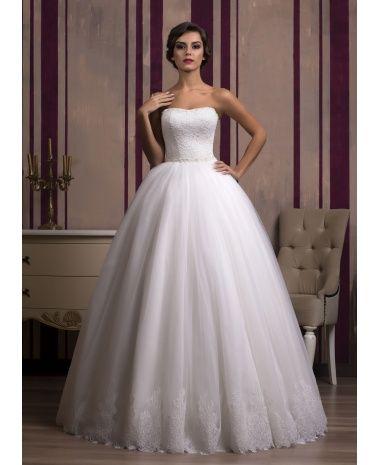 Svadobné šaty s čipkou BRIGIDA