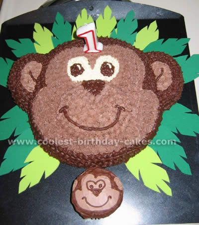 I like the mini one for Caiden's personal cake-I used the idea and iced my own monkey face on Caiden's free smash cake from Publix!