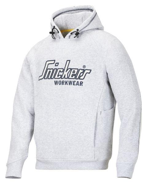 Snickers hættetrøje med logo, grå (2808-1800) - Overdele - BILLIG-ARBEJDSTØJ.DK