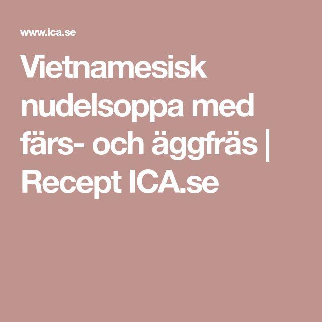Vietnamesisk nudelsoppa med färs- och äggfräs   Recept ICA.se