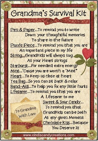 Grandma Survival Kit                                                                                                                                                                                 More