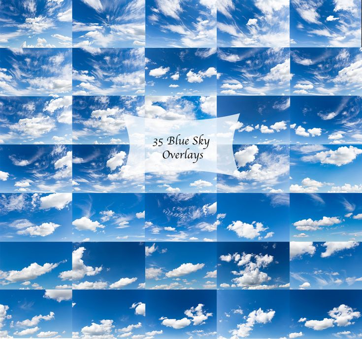 Sky overlays, digital cloudy blue sky overlays, sky replacements by EzDigitals on Etsy