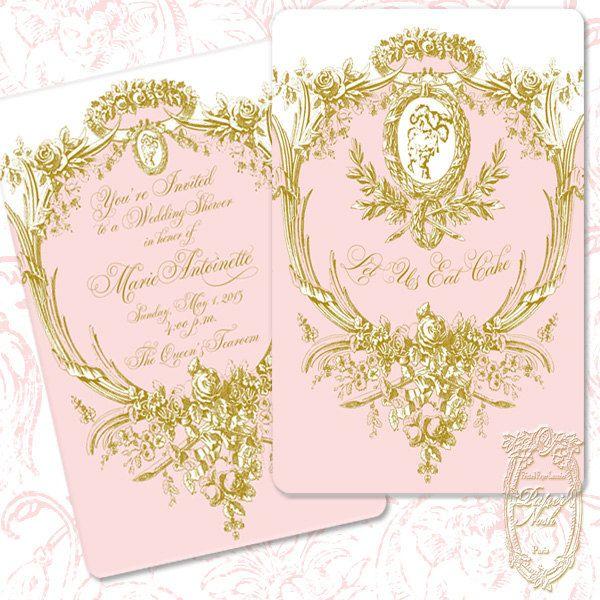 Marie Antoinette Invitations, Wedding, Shower, Engagement