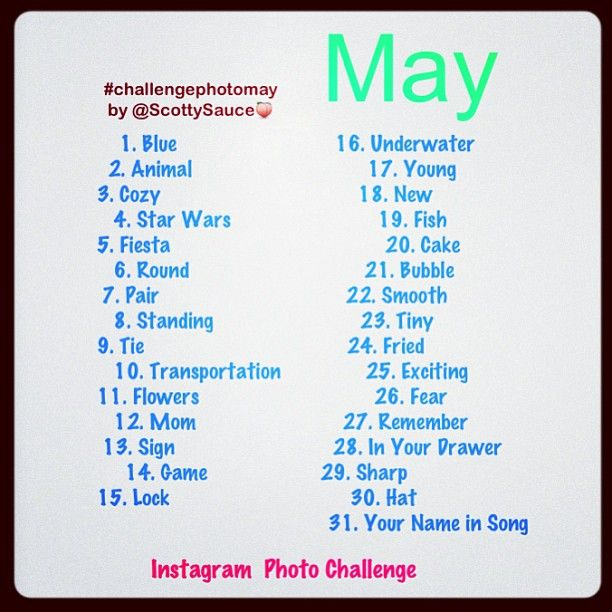 may instagram photo challenge