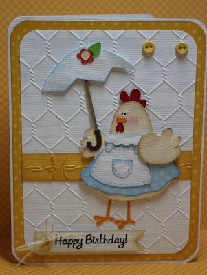 My Craft Spot: DT Post by Gwen - Happy Birthday Chick!