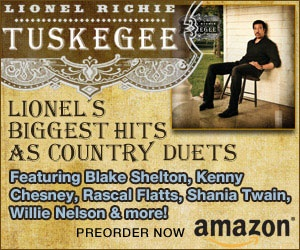 "Tuskegee Song List:  ""You Are"" with Blake Shelton  ""Say You, Say Me"" with Jason Aldean  ""Stuck On You"" with Darius Rucker  ""Deep River Woman"" with Little Big Town  ""My Love"" with Kenny Chesney  ""Dancing On The Ceiling"" with Rascal Flatts  ""Hello"" with Jennifer Nettles  ""Sail On"" with Tim McGraw  ""Endless Love"" with Shania Twain  ""Just For You"" with Billy Currington  ""Lady"" with Kenny Rogers  ""Easy"" with Willie Nelson  ""All Night Long"" with Jimmy Buffett"