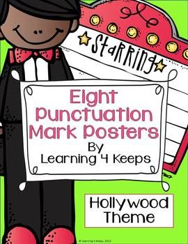 This download is for 8 punctuation posters for the following punctuation marks: period, comma, colon, semicolon, apostrophe, quotation marks, question mark, & exclamation mark. Each post has a picture, definition, and example of the punctuation mark.