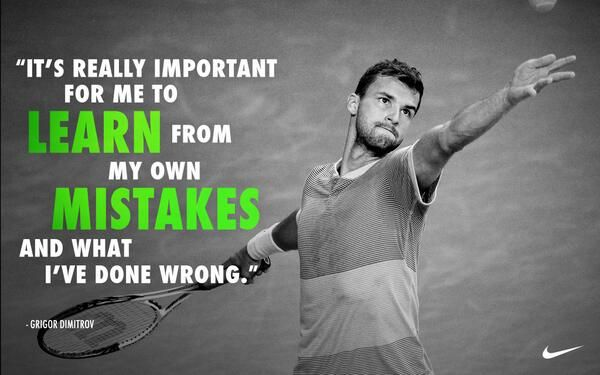 Court lesson's from Grigor Dmitrov. #NikeTennis