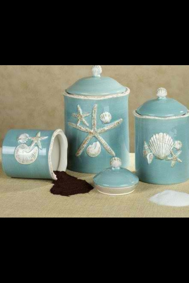 Beachy Style Kitchen Canisters