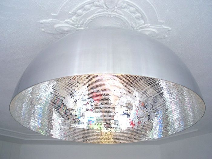Inverted disco ball · mirror ballball lightsdisco ballinterior lightingdinner