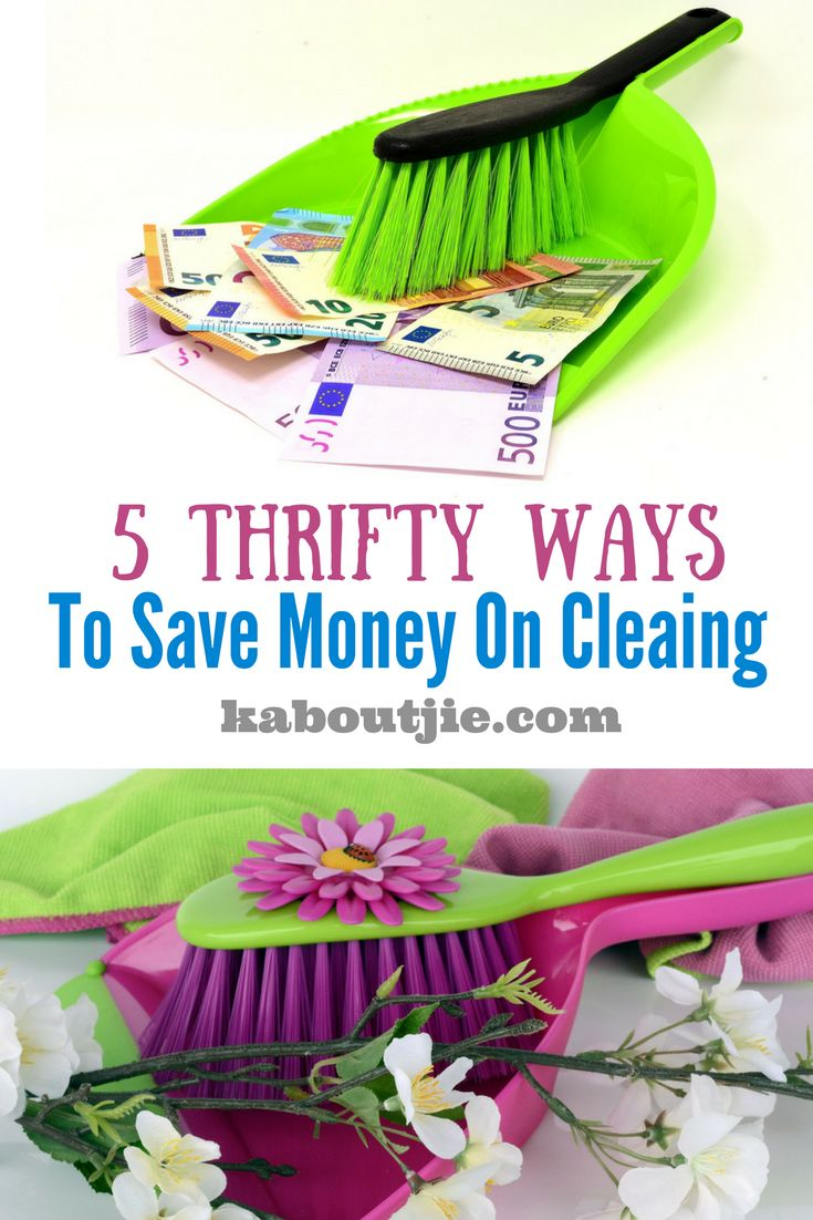 5 Thrifty Ways to Save Money on Cleaning  The costs associated with keeping a clean home can be relatively high. Even if, like me, you do the cleaning yourself, you can soon rack up large bills on the cleaning products themselves.  The good thing is, there are lots of thrifty ways to save money on cleaning.    #cleaningtips #savemoney #savemoneycleaning
