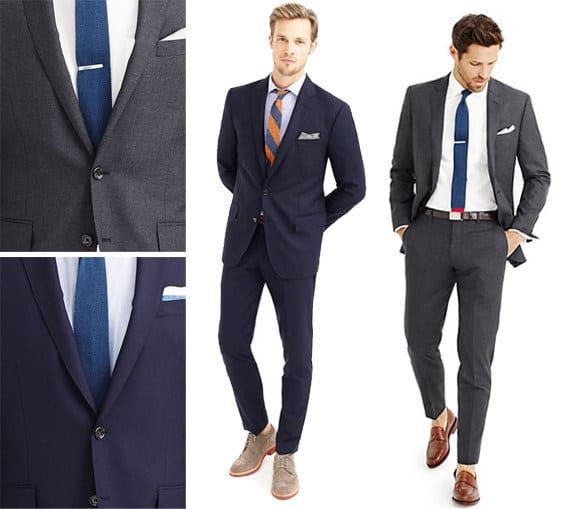 These two staples, which you can pair with a range of shirt and tie colors, will get you through all four seasons, and they'll NEVER go out of style.Submitted by Patrick