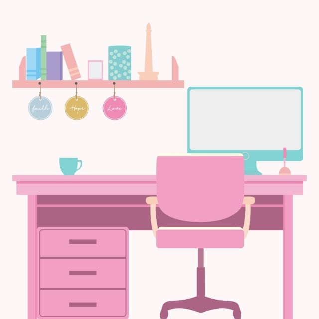 Desk And Chair Set Transparent Background