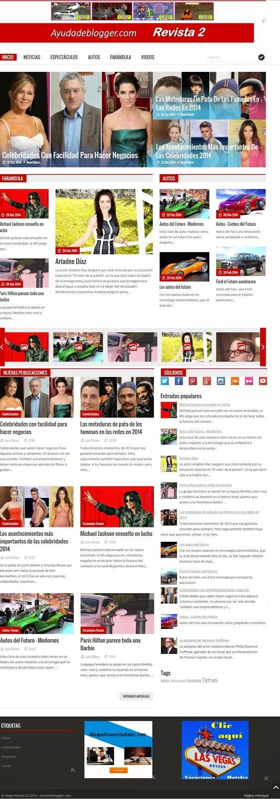 Plantillas Blogger – Línea Revista 2 Descargar gratis