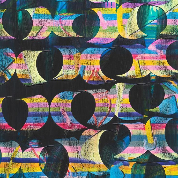 #JuliaDault, 'Electric Circus,' 2017, acrylic + oil painting on canvas via @marianneboeskygallery | Galleries 2017 #artbasel