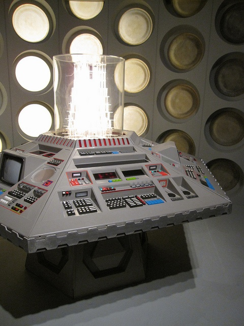 Fifth, Sixth and Seventh Doctors' console room by digibron, via Flickr