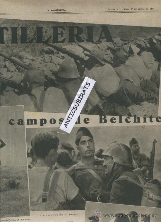 Coleccionismo de Revistas y Periódicos: LA VANGUARDIA.AÑO 1936.GUERRA CIVIL.CORONEL VILLALBA EN GRAÑEN.BELCHITE.CENTURIA THAELMANN.CARLOS MA - Foto 2 - 30530795