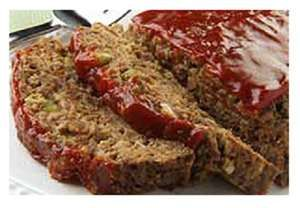 Classic fluffy meatloaf recipe from Betty Crocker. A close friend of mine shared this recipe with me and i have been making it for years. Really good.. must be that bit of sausage added in. ;)