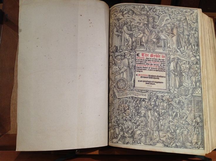 1539 Great Bible - General Title Page