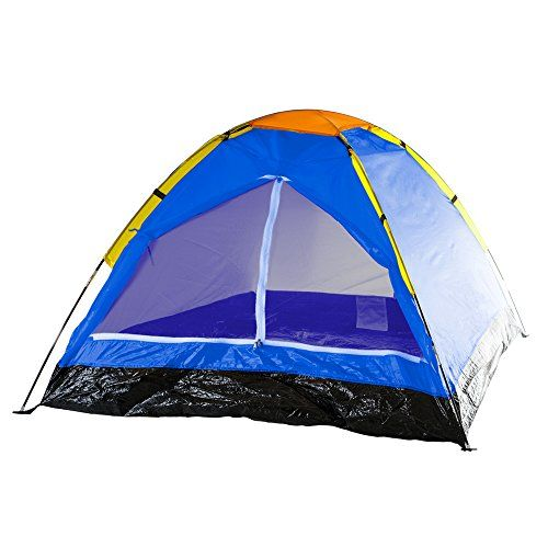 Happy Camper Two Person Tent by Wakeman Outdoors - Bold Blue. For product info go to:  https://all4hiking.com/products/happy-camper-two-person-tent-by-wakeman-outdoors-bold-blue/