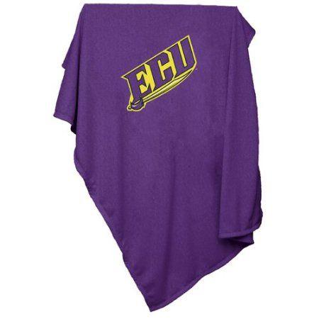 Logo Chair Ncaa East Carolina Sweatshirt Blanket, Purple