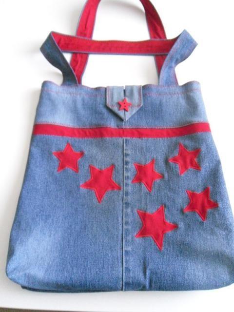 Taška zo starých džíns. Jeans bag