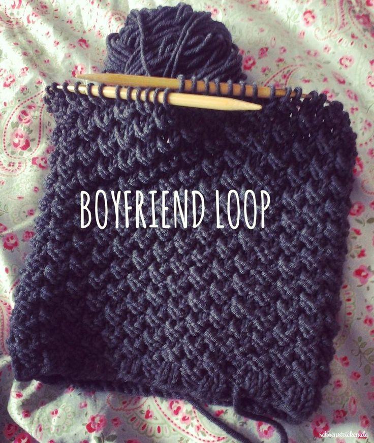 Männerloop: Strickanleitung für einen Boyfriend-Loop