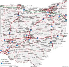 maps ohio   Map of Ohio Cities - Ohio Road Map