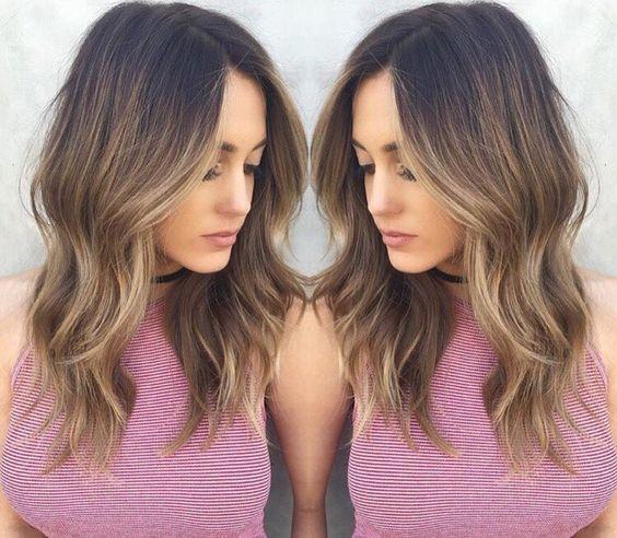 Cute Balayage Hair Coloring