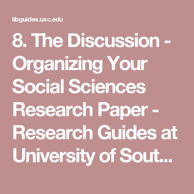 organizing a science research paper Organizing academic research papers limitations of the study search this  writing the empirical social science research paper: a guide for the perplexed.