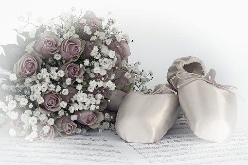 Sapatos De Ballet, Dança, Rosas