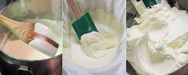 Zelf creme fraiche maken lactosevrij! Crème fraîche zelf maken Crème fraîche (Frans voor verse room) is aangezuurde room, met 35% melkvet of meer, gemaakt van koemelk of geitenmelk. Voor het aanzuren gebruikt men melkzuurbacteriën en laat men het ongeveer 12 uur bij een temperatuur van 20 °C rusten. Het is beter geschikt voor warme gerechten dan zure room (10% vet) omdat de kans op schiften veel kleiner is.   500 gram dikke room 2 eetlepels yoghurt.    Meng de ingredienten en zet weg bij…