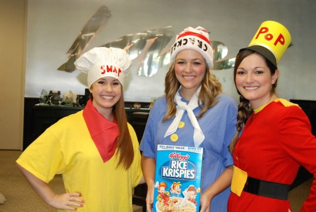 Dress up as Snap, Crackle and Pop this Halloween.