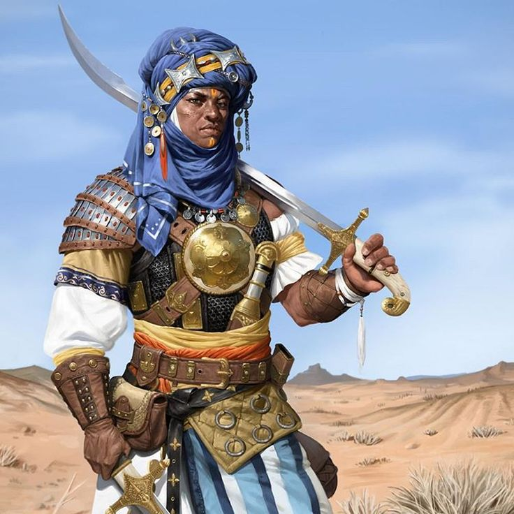 """973 Likes, 7 Comments - NUBIAMANCY (@nubiamancy) on Instagram: """"""""Tuareg Knight"""", illustrated by Juyeon Ju on Artstation.com ▫ Wanna see this imagery in a film?…"""""""