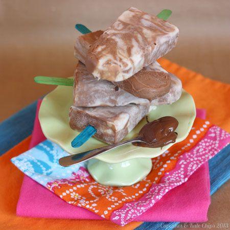 Frozen Yogurt Pops - tantalizing frozen swirls of banana vanilla ...