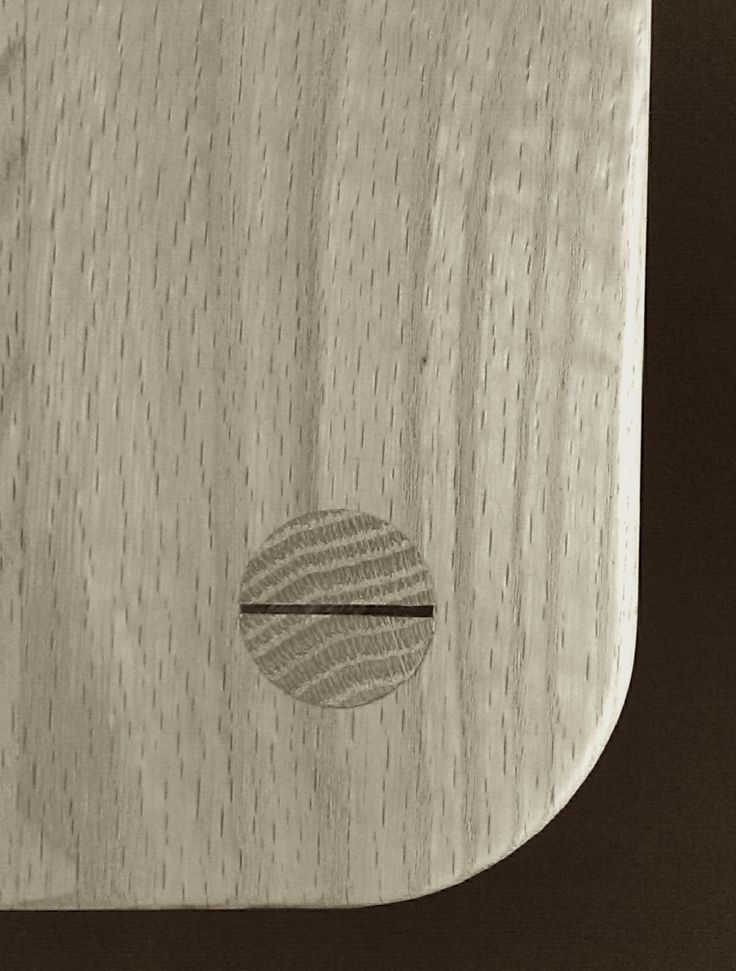 wedged dowel tenon in table top