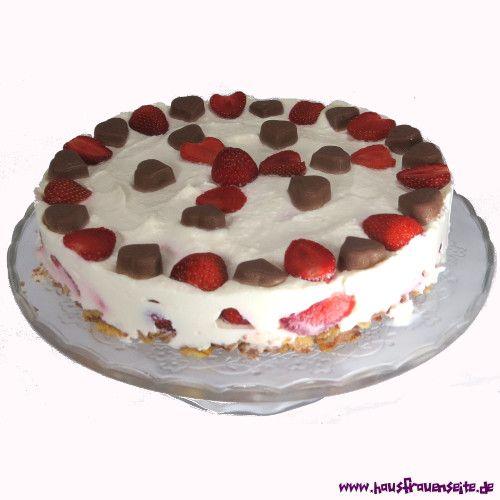Erdbeer-Schoko-Torte Erdbeer-Schoko-Torte ohne backen - einfache Torte einfach und schnell vegetarisch glutenfrei ohne backen
