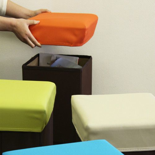 Folding Box Storage Stool Cube KidsToy Store MDF Polyester BLC-378OR Azumaya JP #AzumayaJapan & 56 best Stools u0026 Chairs images on Pinterest | Stools Kids rooms ... islam-shia.org