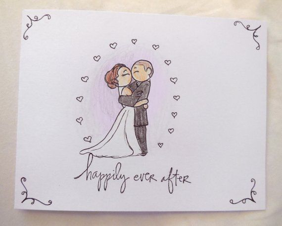 Illustrated Wedding Card First Kiss Sketch Husband And Wife Marriage Wedding Card Custom Made Personalized Ca Wedding Cards Personalized Card First Kiss