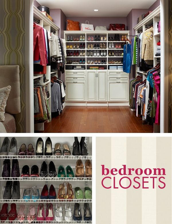 The closetmaid 39 bedroom closets 39 pinterest board offers storage products and organization tips - Keep your stuff organized with bedroom closet organizers ...